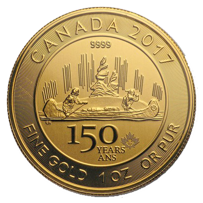 1 oz Gold Canada 150 Voyageur - My Private Bullion
